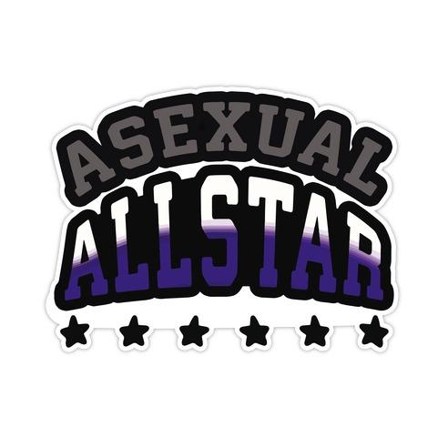 Asexual Allstar Die Cut Sticker