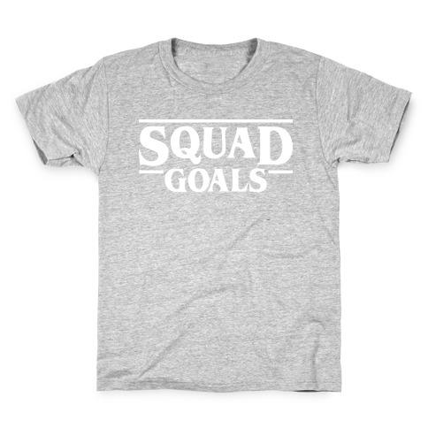 Stranger Squad Goals Parody (White) Kids T-Shirt