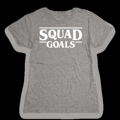 Stranger Squad Goals Parody (White) Womens T-Shirt