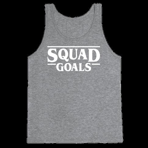 Stranger Squad Goals Parody (White) Tank Top