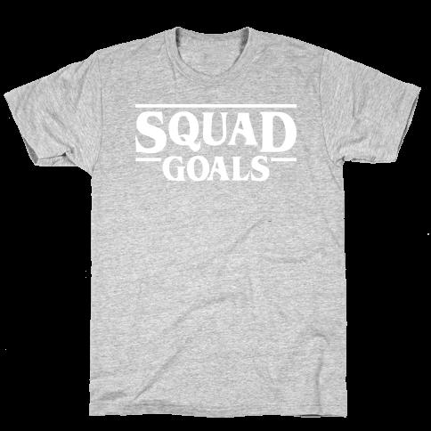 Stranger Squad Goals Parody (White) Mens T-Shirt