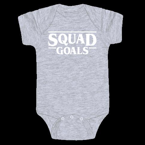 Stranger Squad Goals Parody (White) Baby Onesy