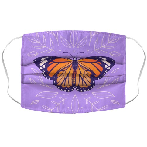 Purple Solo Monarch Accordion Face Mask