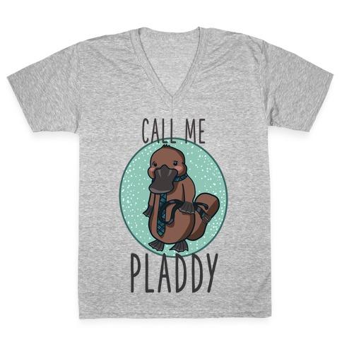 Call Me Pladdy V-Neck Tee Shirt