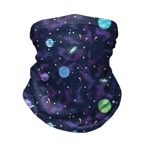 90s Cosmic Planet  Neck Gaiter