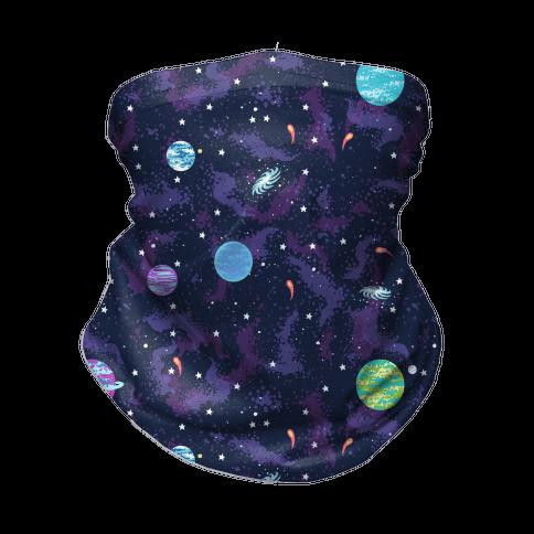 90s Cosmic Planet Neck Gaiter