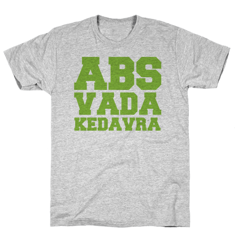 Abs Vada Kedavra Parody Mens T-Shirt