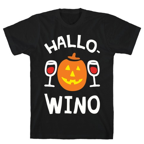 Hallo-Wino Pumpkin T-Shirt