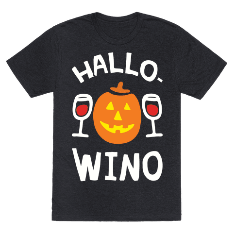 Hallo-Wino Pumpkin Mens T-Shirt