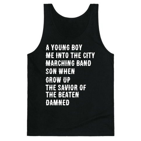 When I Was a Young Boy (1 of 2 pair) Tank Top