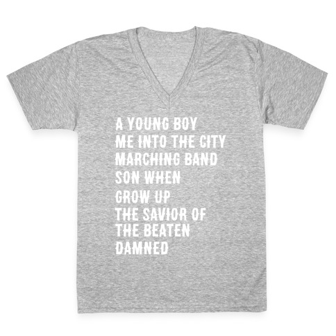 When I Was a Young Boy (1 of 2 pair) V-Neck Tee Shirt