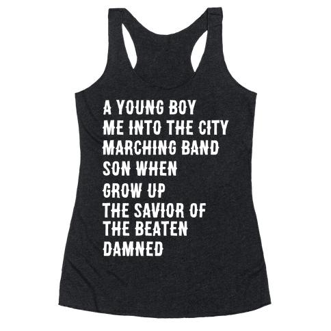 When I Was a Young Boy (1 of 2 pair) Racerback Tank Top