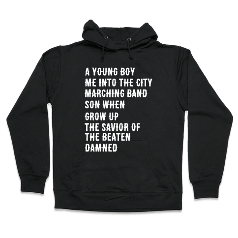 When I Was a Young Boy (1 of 2 pair) Hooded Sweatshirt