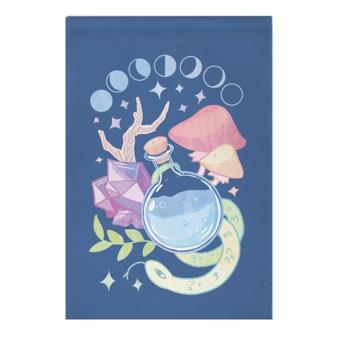 Witchy Pastel Things Garden Flag