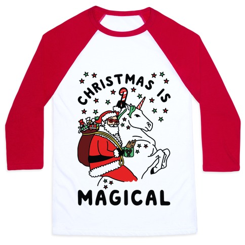 Christmas Is Magical Baseball Tee