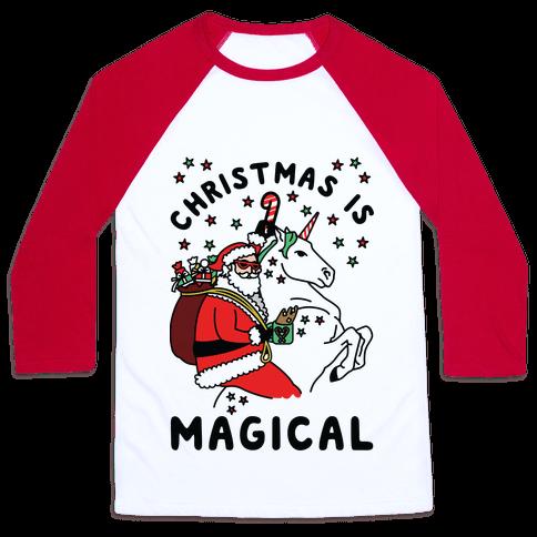 Christmas Is Magical Baseball Tee