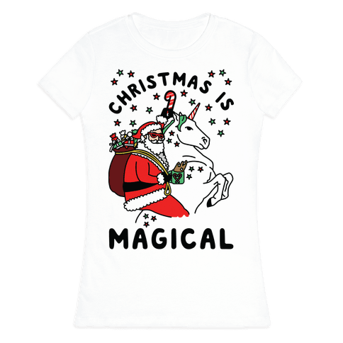 Christmas Is Magical Womens T-Shirt
