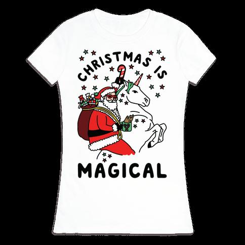 Christmas Is Magical Womens T-Shirt