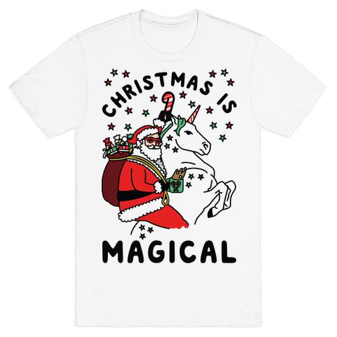 Christmas Is Magical Mens T-Shirt