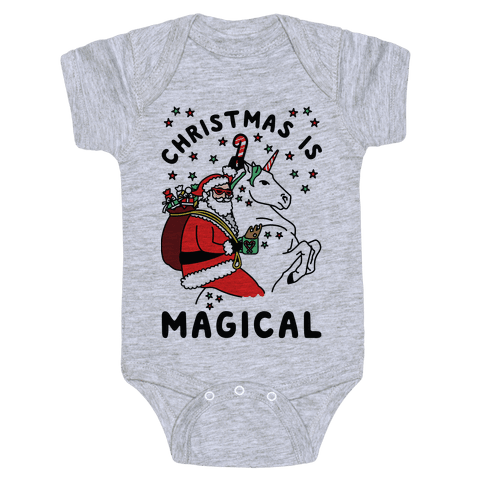 Christmas Is Magical Baby Onesy