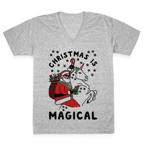 Christmas Is Magical V-Neck Tee Shirt
