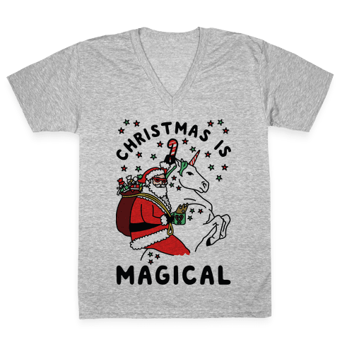 Christmas Is Magical V-Neck Tee Shirt