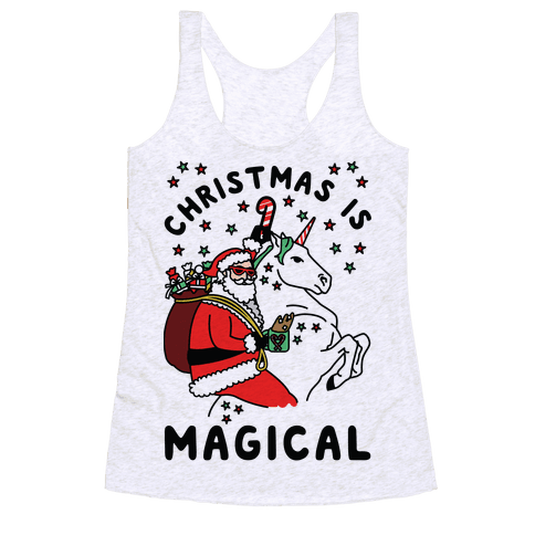 Christmas Is Magical Racerback Tank Top
