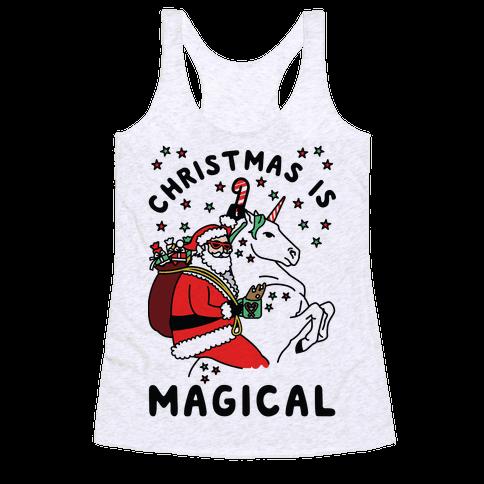 Christmas Is Magical Racerback Tank Top
