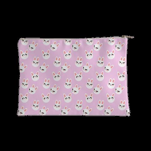 BunBun Pattern Pink Accessory Bag