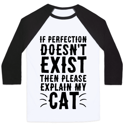 If Perfection Doesn't Exist Then Please Explain My Cat Baseball Tee