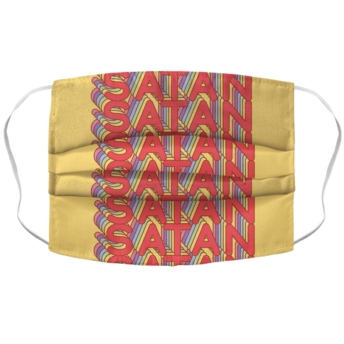 Satan Retro Rainbow Face Mask Cover