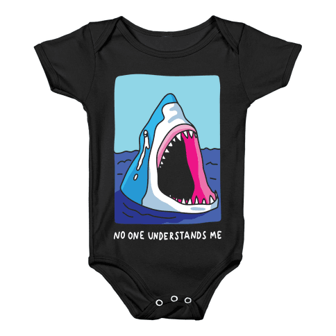 No One Understands Me Shark Baby Onesy