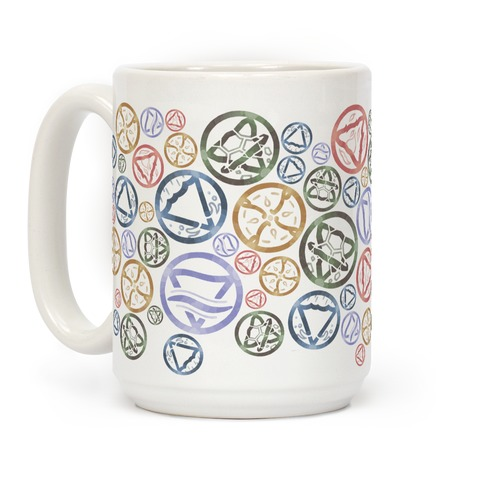 Witch's Elements Pattern Coffee Mug