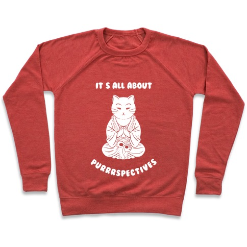 It's All About Purrrspectives (white) Pullover