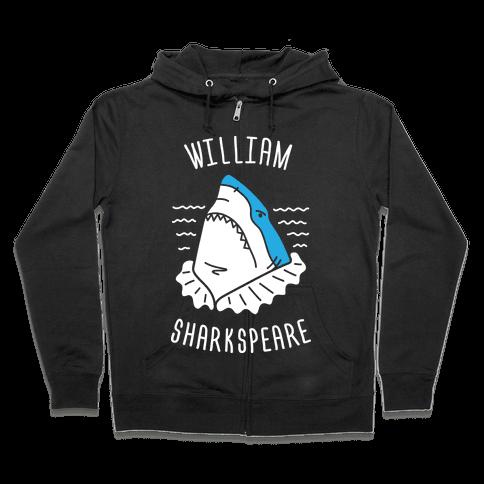 William Sharkspeare Zip Hoodie