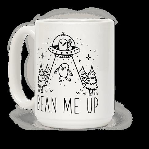 Bean Me Up Alien Coffee Mug