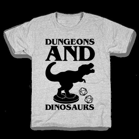 Dungeons and Dinosaurs Parody Kids T-Shirt