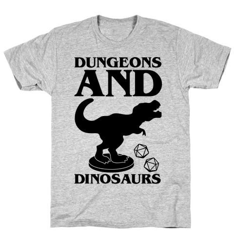 Dungeons and Dinosaurs Parody T-Shirt