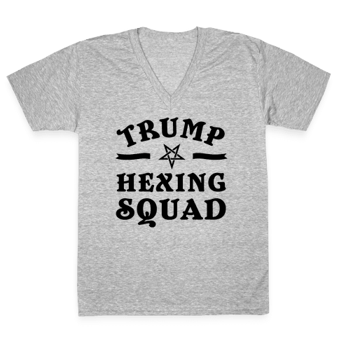 Trump Hexing Squad V-Neck Tee Shirt