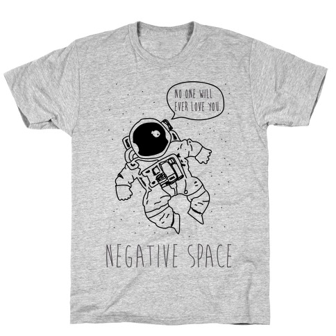 Negative Space Black T-Shirt