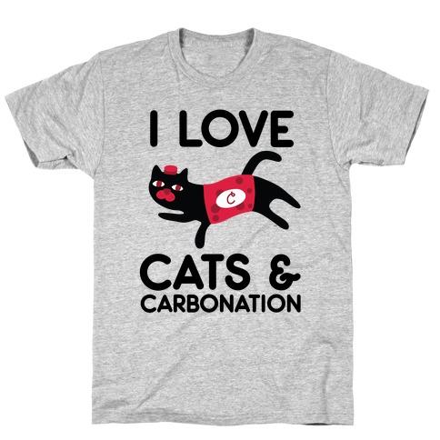 I Love Cats & Carbonation T-Shirt