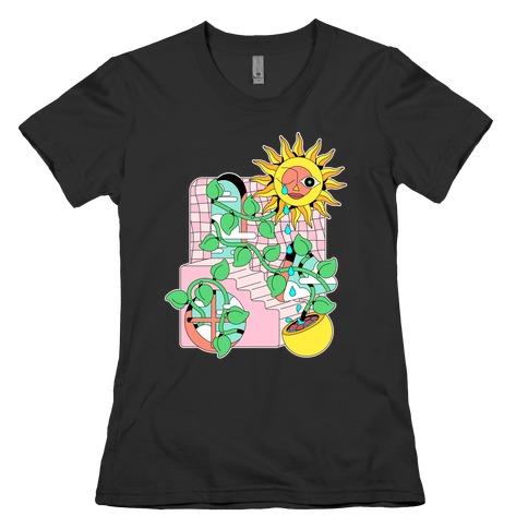 Trippy Sunflower Shower Womens T-Shirt