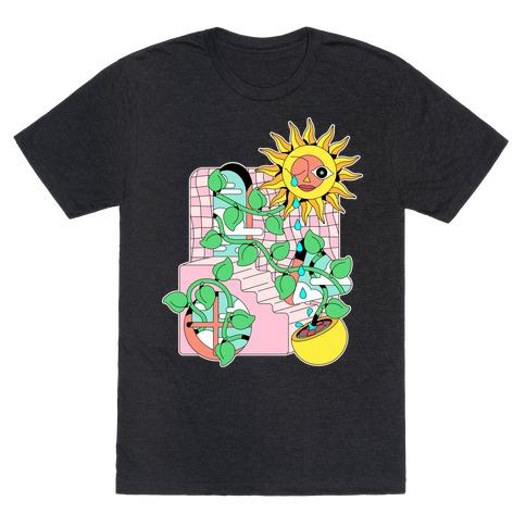 Trippy Sunflower Shower  T-Shirt