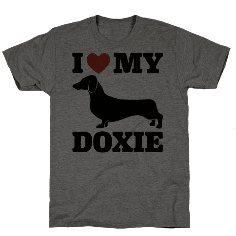 I Love My Doxie Dachshund  Mens T-Shirt