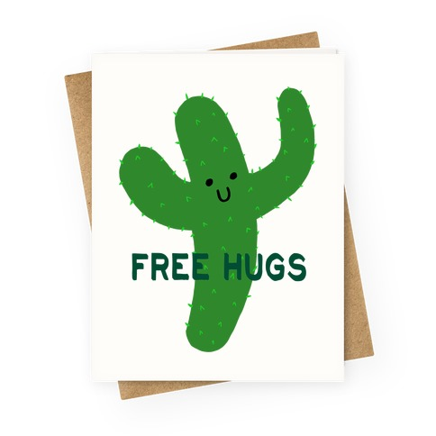 Free Hugs Cactus Greeting Card