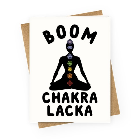 Boom Chakra Lacka Greeting Card