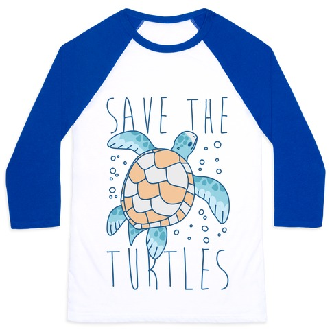 Save the Turtles Baseball Tee
