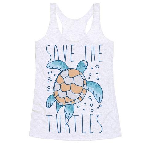Save the Turtles Racerback Tank Top