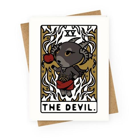 The Devil Tarot Card Animal Crossing Parody Greeting Card