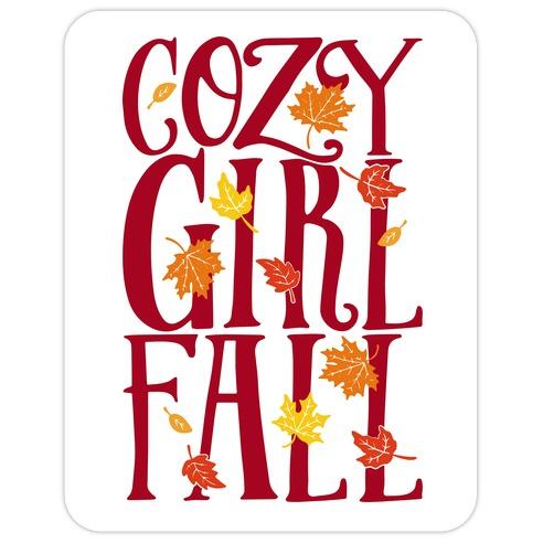 Cozy Girl Fall Die Cut Sticker